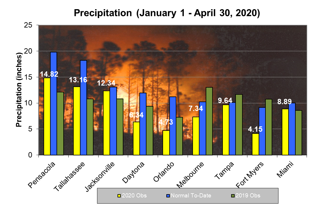 year to date rainfall forecasts fire weather wildland fire florida forest service divisions offices home florida department of agriculture consumer services year to date rainfall forecasts