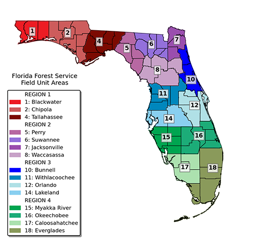 Florida Forest Service Fire Map Field Operations / Our Forests / Forest & Wildfire / Home